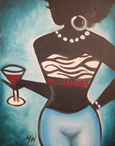 Martini woman painting