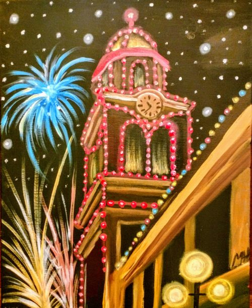 Plaza lights painting party - KCMO BYOB painting parties