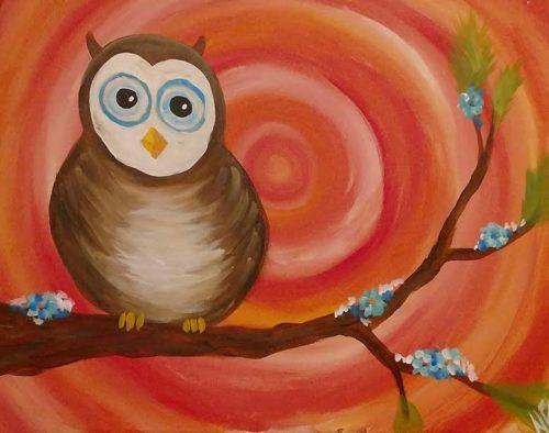 Spring Owl panting party - Kansas City