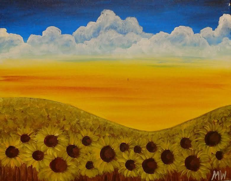 Sunflowers painting party