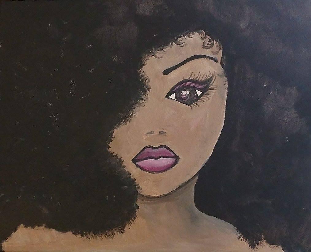 Woman portrait painting party