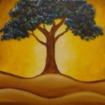 Blue Tree Painting Party - Hook Gallery - Westport, Kansas City