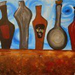 bottles still life painting