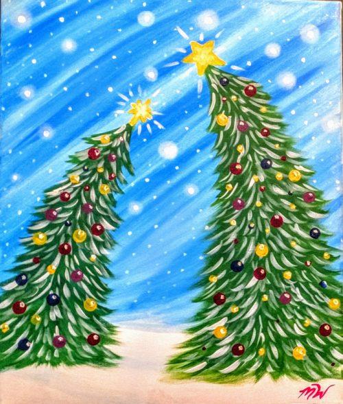 Christmas Trees Painting - Painting Parties in Kansas City, MO