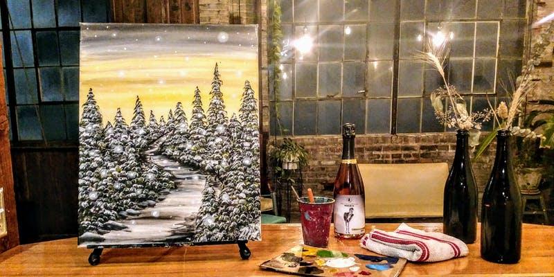 Winter Christmas Scene painting