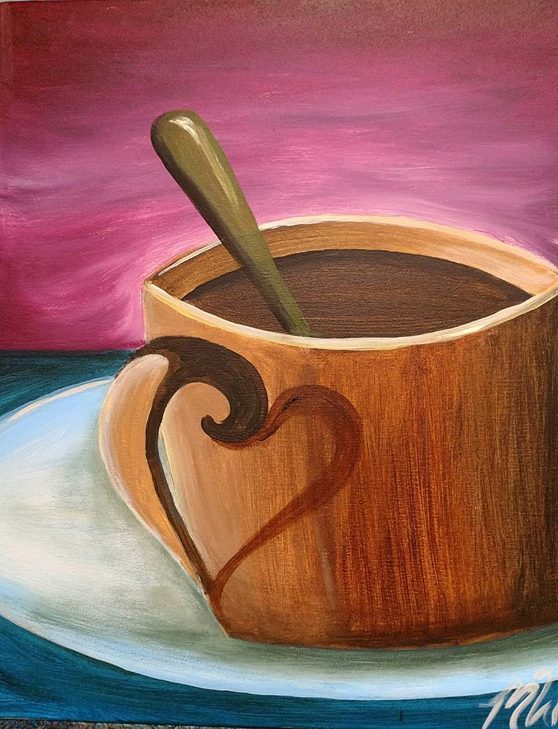 Coffee Mug Painting - Painting Party - Hook Gallery - Kansas City, Missouri - Westport - Plaza