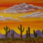 Desert painting party