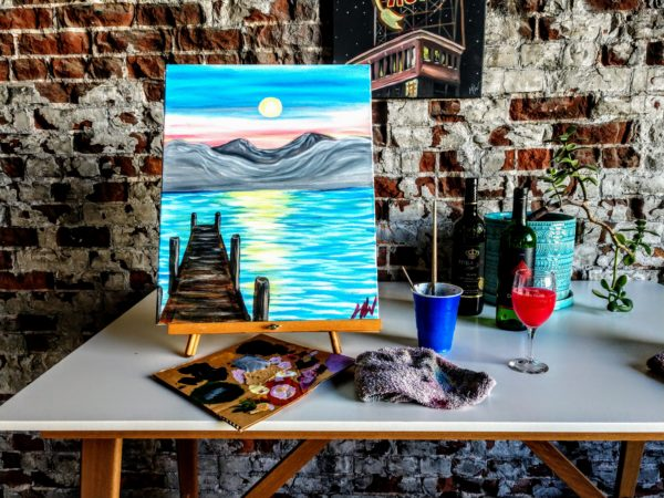 Painting parties in Kansas City - dock and bay