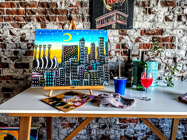 Painting party - KC Kansas City cityscape