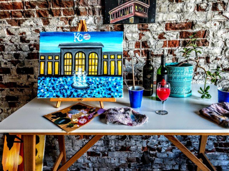 Royals win the World Series - Kansas City painting party BYOB paint and sip