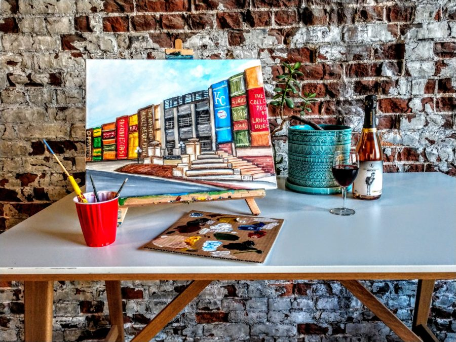 Downtown Library painting - Kansas City painting parties