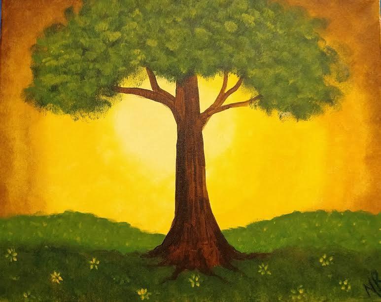 Tree painting - Hook Gallery Westport Kansas City Painting Parties