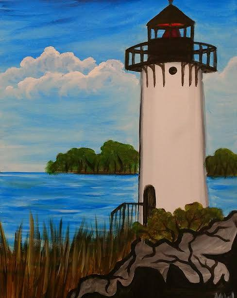 Lighthouse painting - BYOB painting parties in KC