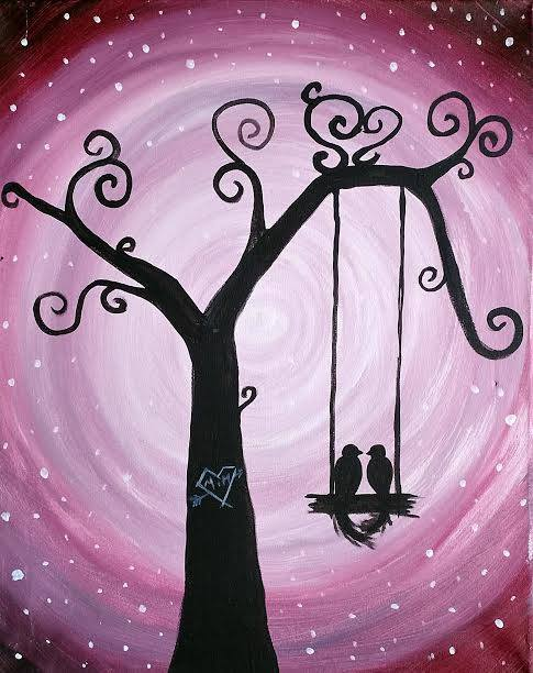 Love Birds painting party in Kansas City