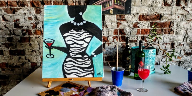 Martini painting party Kansas City