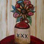 Moonshine flowers - Kansas City BYOB painting parties at Hook Gallery