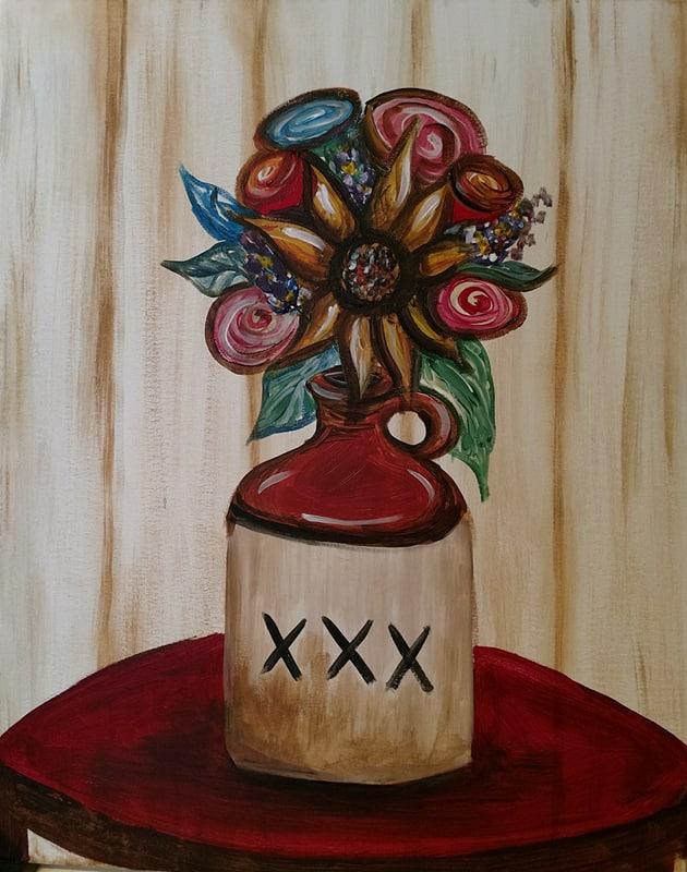 Kansas City Instructor-led BYOB painting party - Moonshine vase