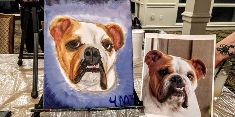 Paint your own pet portrait class