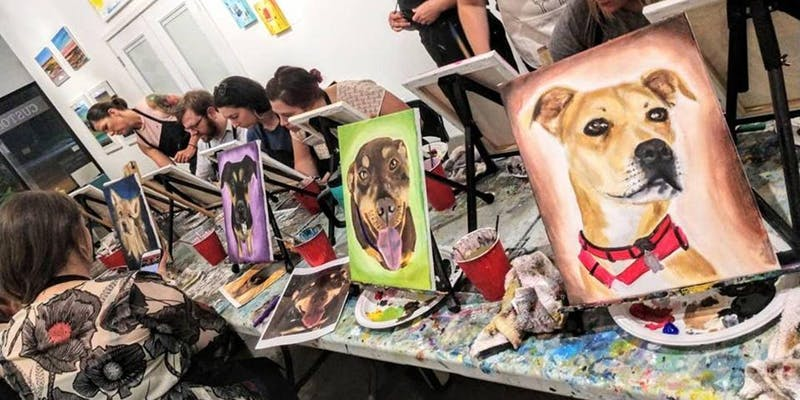 Paint your own pet portrait painting party!