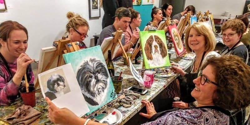 Pet portrait painting party in Westport / Plaza - Kansas City, Missouri