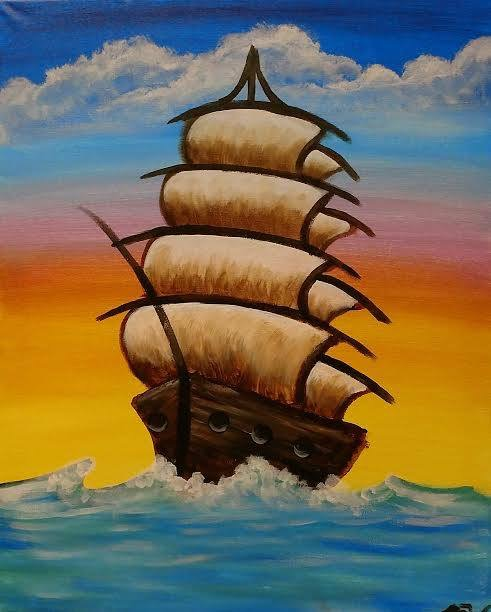 Ship painting - KC painting parties - bring your own wine and beer, we'll provide the rest!