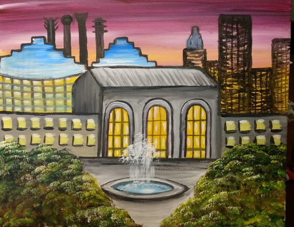 Union Station painting party in Kansas City
