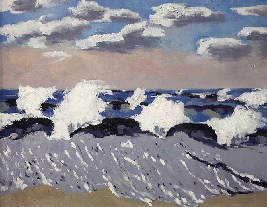 Waves painting party - oceanscape