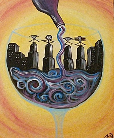 Wine city painting party