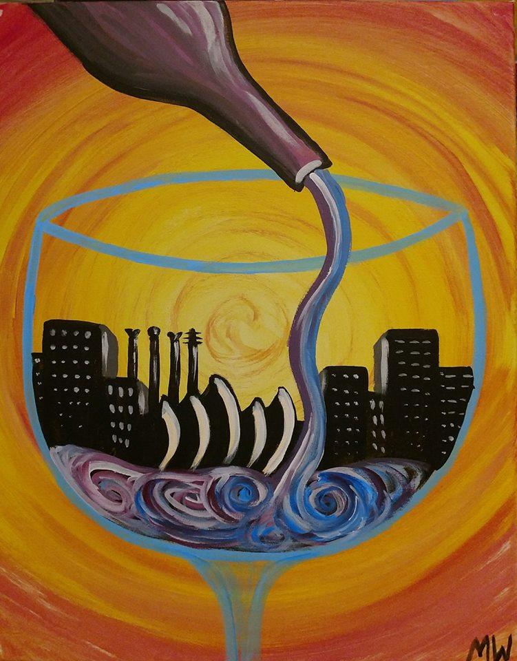 Wine Glass Kansas City Painting - painting party